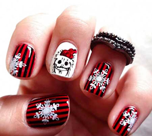Christmas Inspired Acrylic Nails
