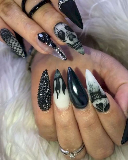Nail Art On Black Nails