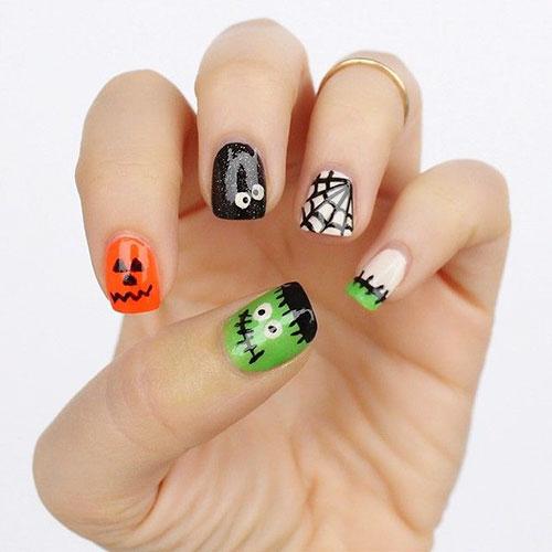 Halloween Gel Nails