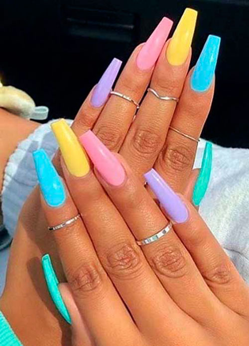 Summer Acrylic Nails