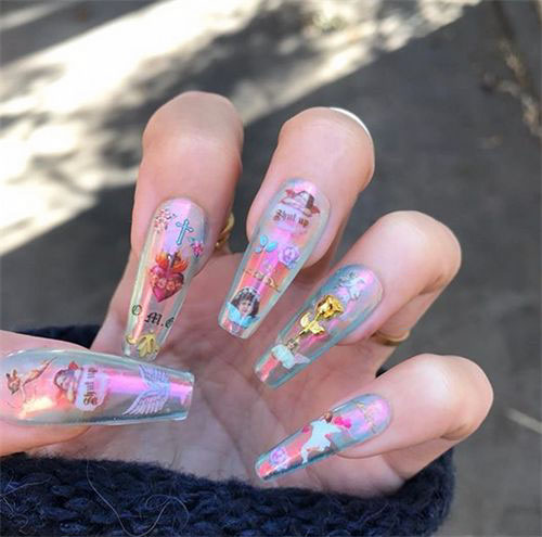 Designs For Coffin Nails