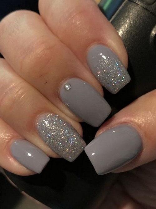 Grey Nexgen Nails