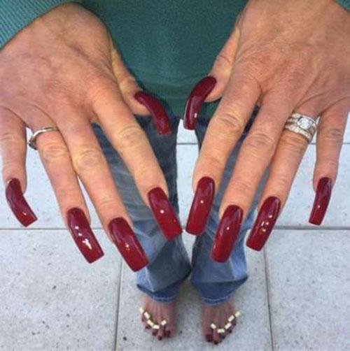 Long Square Acrylic Nails