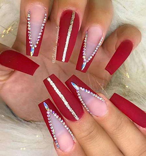 Acrylic Red Nails