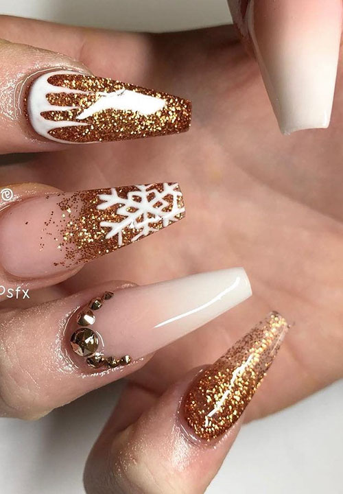 Nail Designs For Coffin Nails