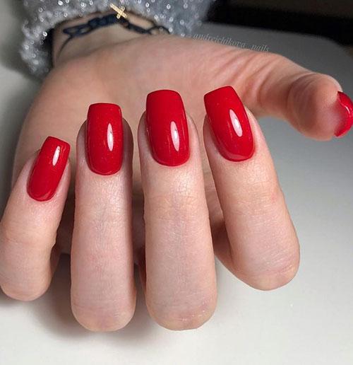 Red Bandana Acrylic Nails