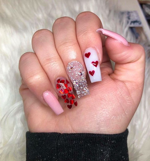 St Valentine Nails