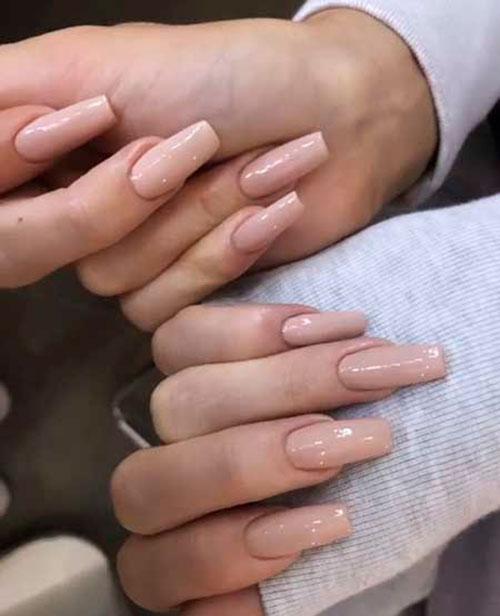 Square Acrylic Nails Long
