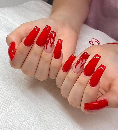 Red Acrylic Nail Ideas