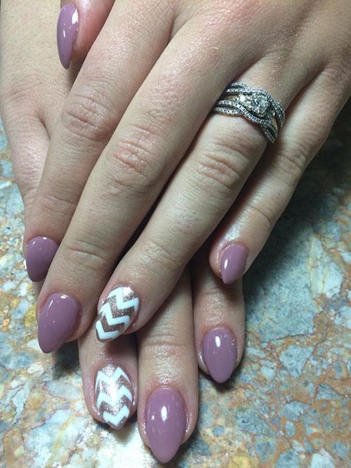 Short Rounded Stiletto Nails