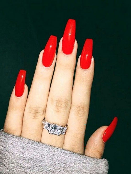 Blood Red Acrylic Nails