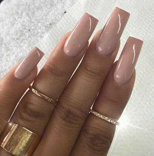Long Acrylic Square Nails