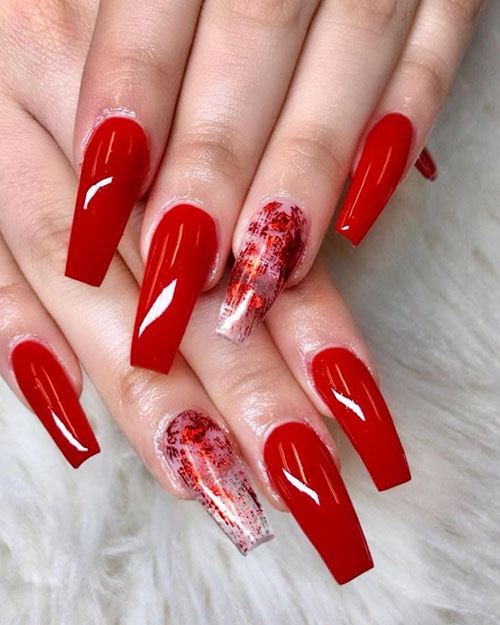 Red Wine Acrylic Nails