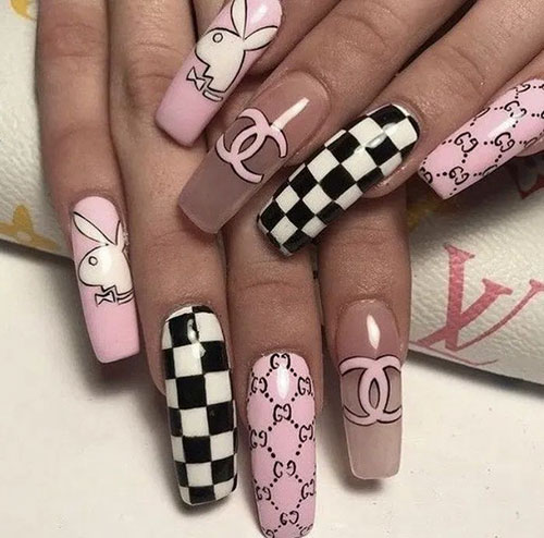 Beautiful Coffin Nail Designs