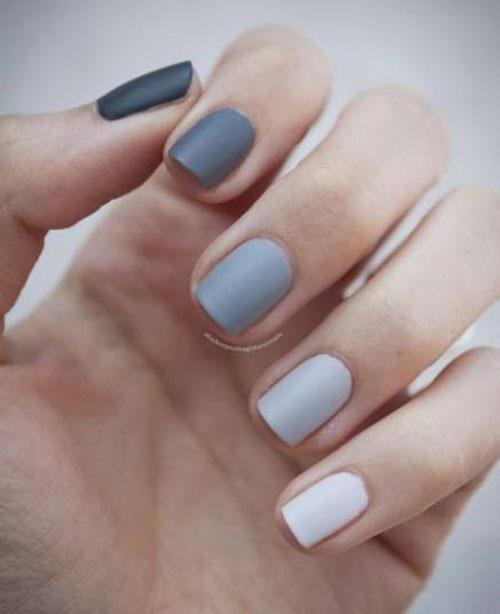 Charcoal Grey Nails