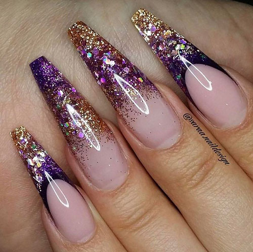Pictures Of Coffin Nail Designs