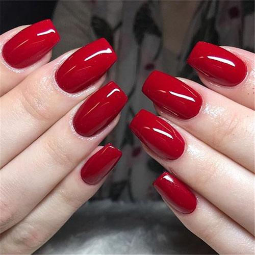 Red Velvet Acrylic Nails