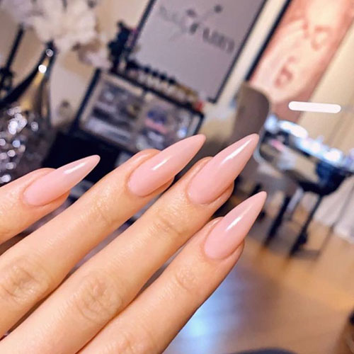 Long Nails Almond