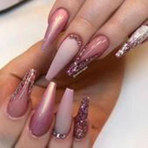 Ballerina Slipper Nails