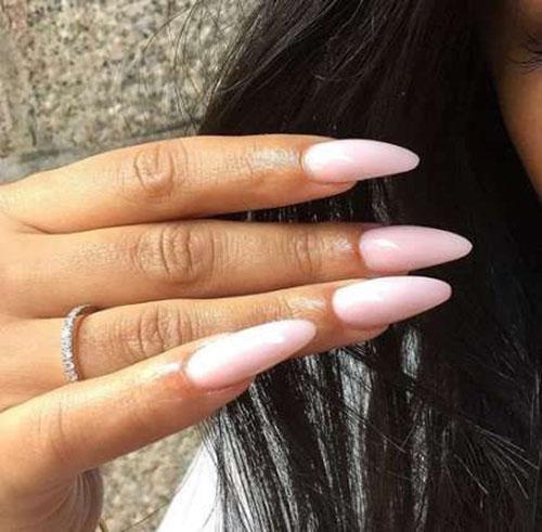 Long Nails Almond